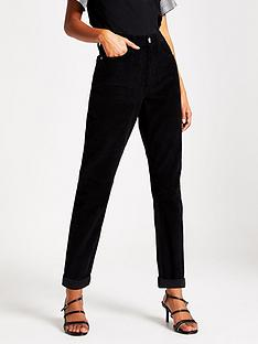 river-island-cord-mom-jeans-black