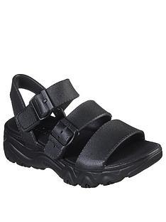 skechers-dlites-20-style-icon-flat-sandals-black