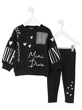 river-island-mini-girls-mini-diva-sweat-set-black