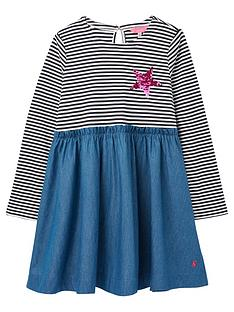 joules-girls-hampton-stripe-dress-blue