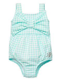 river-island-baby-girls-gingham-swimsuit-green
