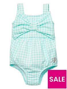 river-island-baby-girls-gingham-swimsuit-green