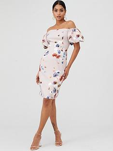 little-mistress-bardot-floral-shift-dress-mutli