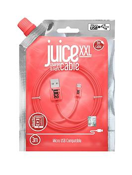 juice-juice-micro-usb-xxl-3m-cable-coral
