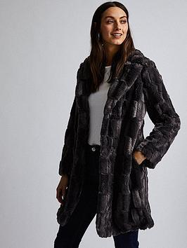 dorothy-perkins-faux-fur-coat-grey