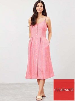 joules-abby-button-through-strappy-dress-redwhite