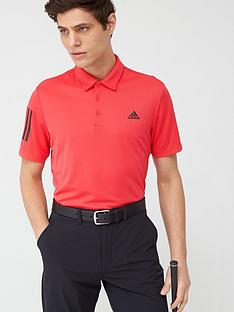 adidas-golf-3-stripe-basic-polo-red
