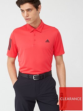 adidas-golf-3-stripe-basic-polo-red