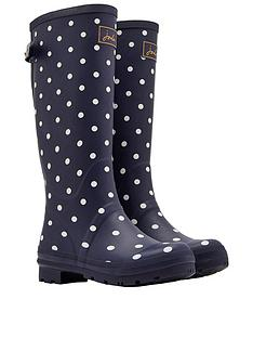 joules-printed-welly-with-adjustable-gusset-navy