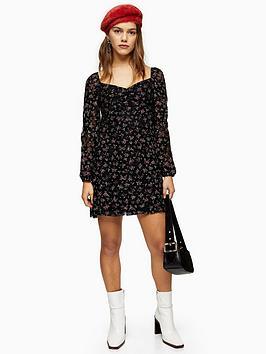 topshop-petite-floral-lace-gypsy-mini-dress-black