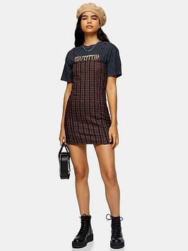 topshop-strappy-mini-dress-red