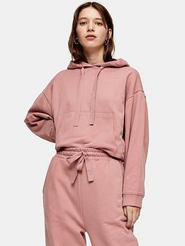 topshop-100-organic-cotton-hoodie-pink