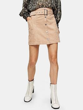 topshop-cord-button-belt-skirt-ecru