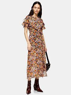topshop-topshop-floral-ruffle-shirt-dress-multi