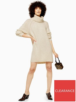 topshop-chunky-roll-neck-knitted-jumper-dress-oat
