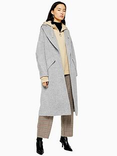 topshop-brushed-longline-coat--grey