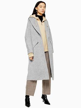 topshop-brushed-longline-coat--grey