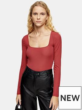 topshop-plain-scallop-shirt-pink