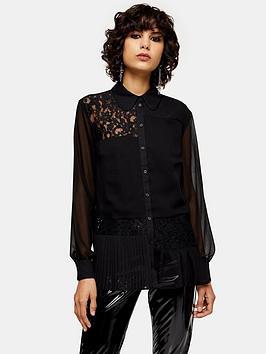 topshop-lace-frill-hem-blouse-black