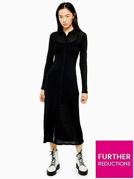 topshop-rib-midi-cardigan-dress-black