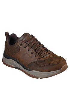 skechers-benago-treno-leather-trainers-brown