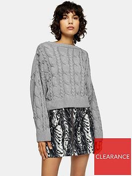 topshop-super-crop-cable-knit-jumper-grey