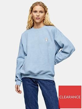 topshop-koala-emoji-sweatshirt-blue
