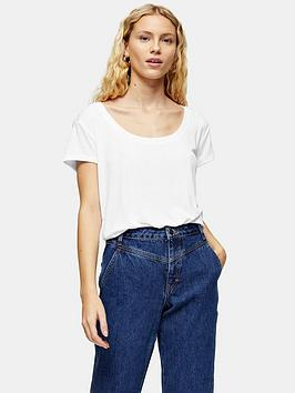 topshop-scoop-neck-t--shirt--white