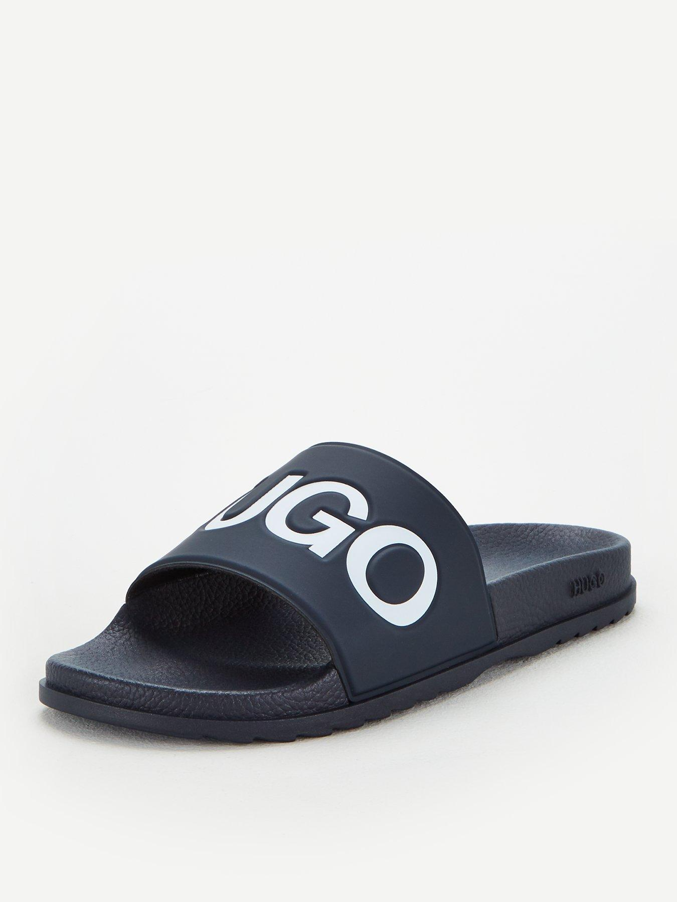 Mens Slip On Sliders Slides Gym Holiday Beach Pool Sandals Flip Flops Size 7-12