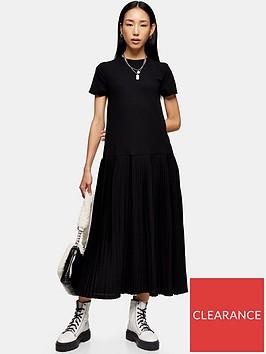 topshop-mesh-chuck-on-midi-dress-black