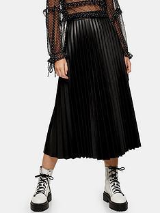 topshop-pu-pleat-midi-skirt-black