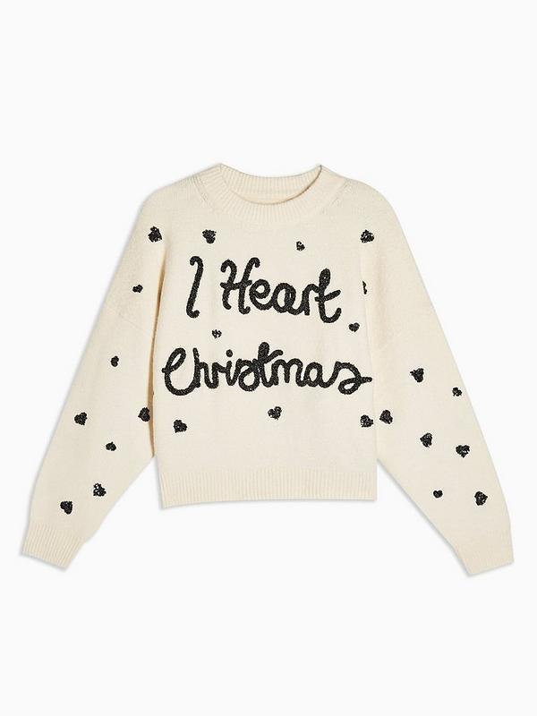 I Heart Christmas Jumper Ivory