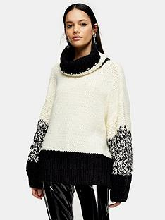 topshop-topshop-knitted-roll-neck-jumper-monochrome