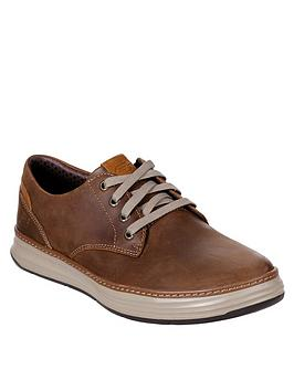 skechers-moreno-gustom-leather-trainers-brown