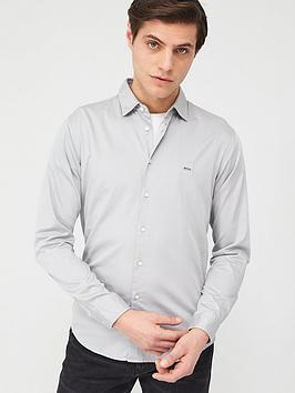 boss-mypop2-stretch-long-sleeve-shirt-silver
