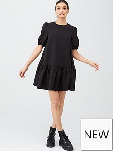 v-by-very-crepe-smock-dress-black
