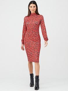 v-by-very-high-neck-printed-midi-dress