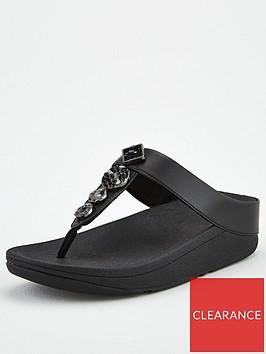 fitflop-fino-textured-circles-toe-post-sandal-black