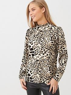 v-by-very-high-neck-printed-blouse-animal