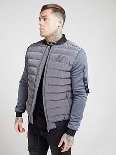 sik-silk-storm-bubble-jacket-grey