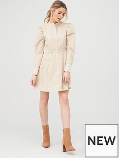v-by-very-cotton-poplin-tiered-shirt-dress-beige