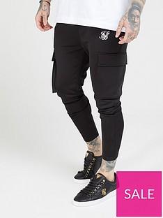 sik-silk-athlete-cargo-pants-black