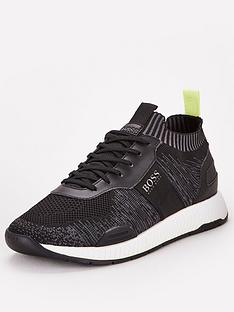 boss-titanium-knit-sock-runner-trainers-black