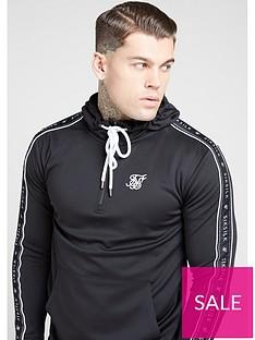 sik-silk-quarter-zip-overhead-panel-tape-hoodie-black