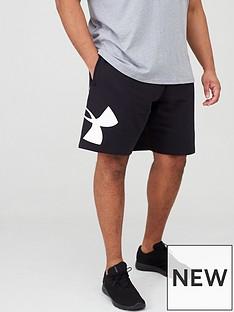 under-armour-plus-size-rival-fleece-logo-short-black