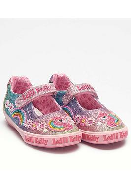 lelli-kelly-girls-rainbow-unicorn-dolly-shoe-multiglitter
