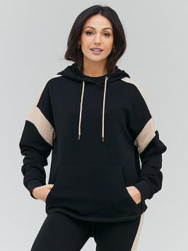 michelle-keegan-colour-block-jersey-hoodie-multi