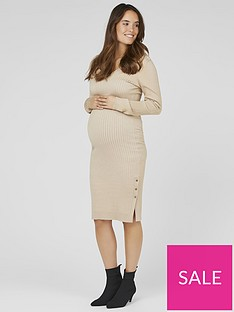 mama-licious-mama-licious-maternity-maria-knitted-midi-dress