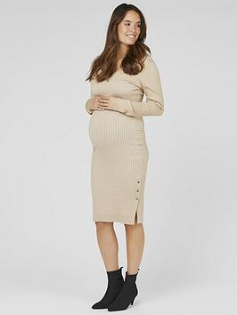 mama-licious-mama-licious-maternity-maria-knitted-midi-dress