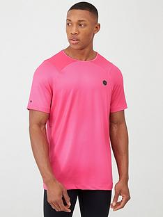 under-armour-heat-gear-rush-fitted-t-shirt-pinkblack